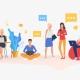 come professioni diverse entrano in contatto e lavorano in uno spazio di coworking